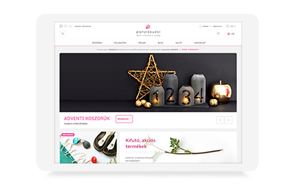 Playful and modern Magento webshop for Panyizsuzsi jewelery brand