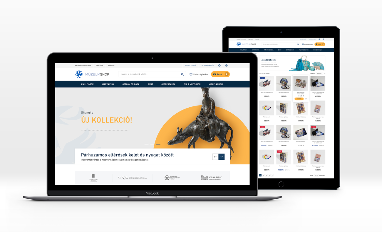 MúzeumShop website