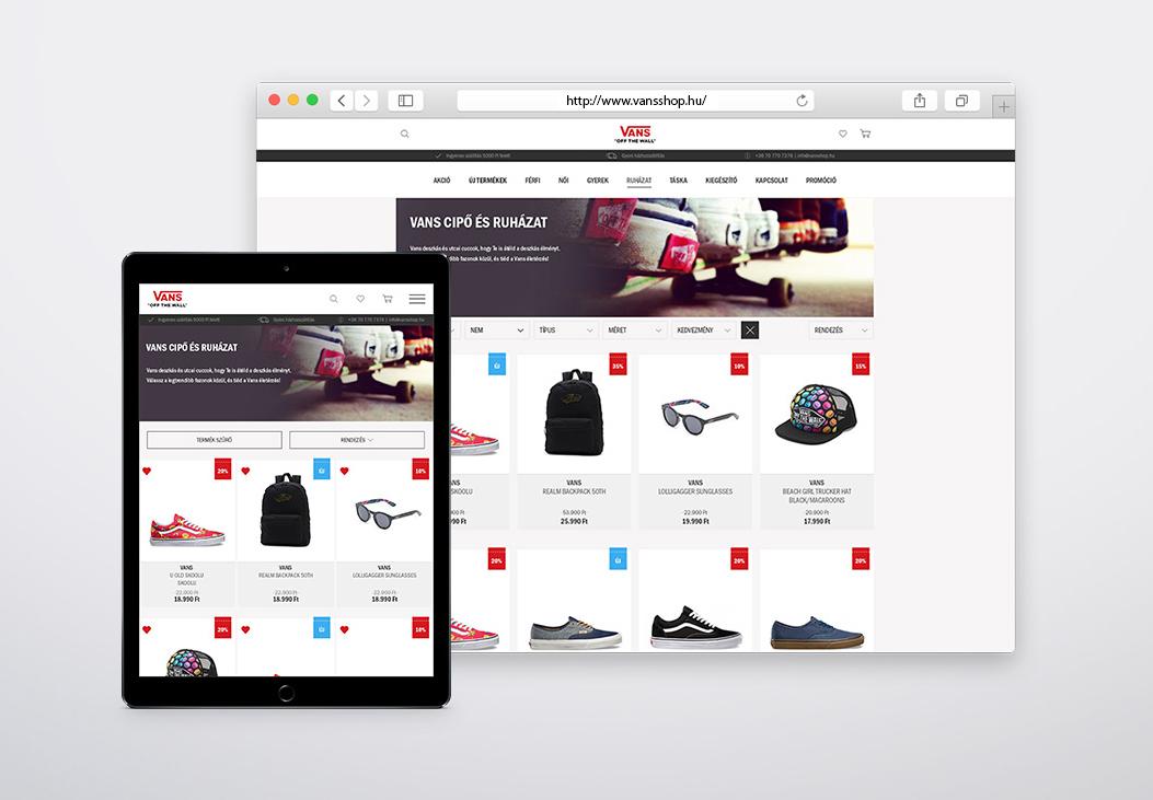 VANS webshop