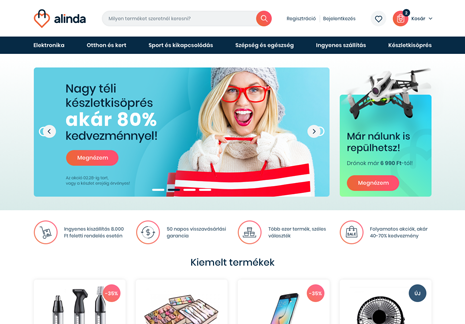 Developing the Alinda webshop