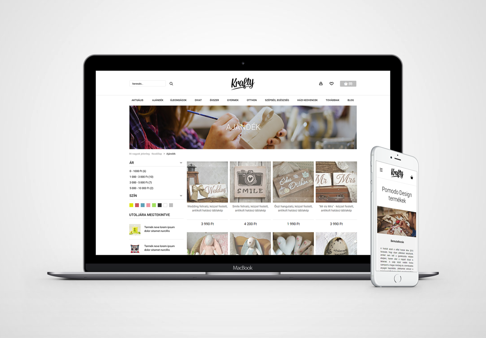 Krafty webshop
