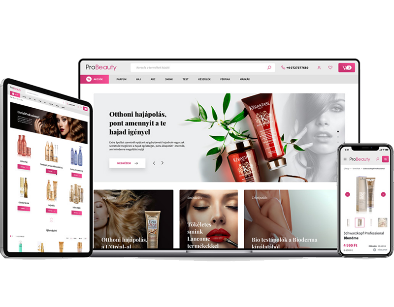 Magento 2 webshop for a premium skincare and beauty company