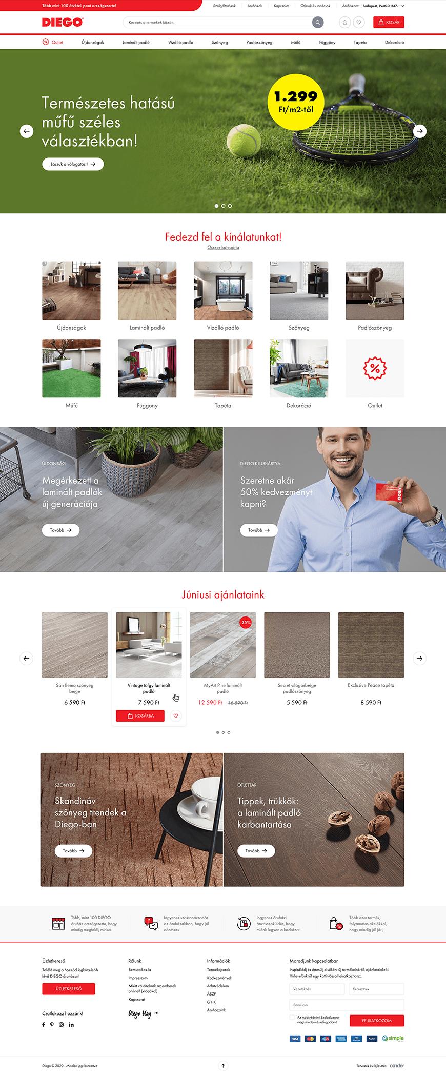DIEGO web store